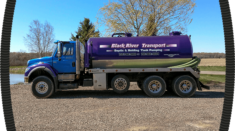 purple black river transport truck header image