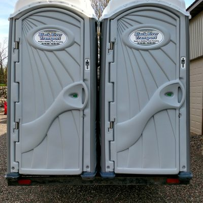 portable toilet services at black river transport